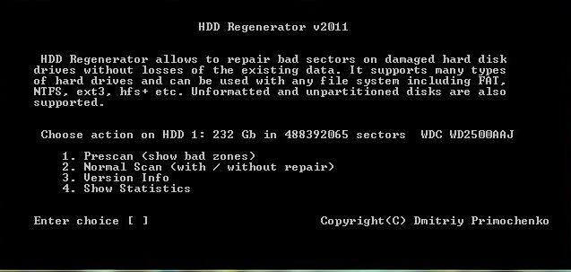 hdd regenerator как пользоваться